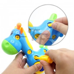 Toys Funtastic Educational Engineering  Assemble Disassemble Giraffe Pull Toys