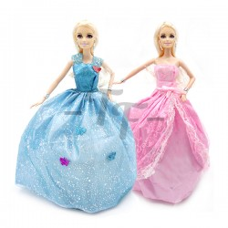"Toys Funtastic 12"" Birthday Doll Dress Up Gown Gift Set - Pink"
