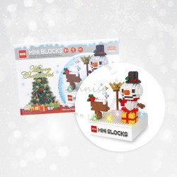 Diy Nano Blocks With Light & Music, Snowman, Christmas Series (290 Pcs)