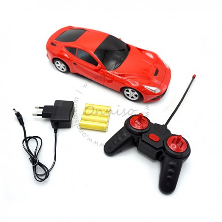 Toys Funtastic  1:16 Four-way RF Remote Control Super Sport Car With Light, Red