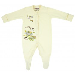 Trendyvalley Organic Cotton Baby One Piece Suit Romper With Covered Glove And Socks (Cute Like My Mum)