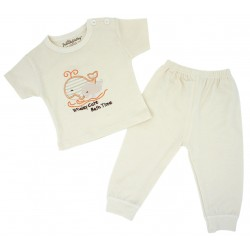 Trendyvalley Organic Cotton Short Sleeve Baby Shirt and Long Pants (Whale)
