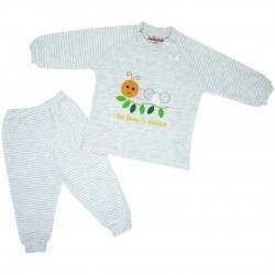 Trendyvalley Organic Cotton Baby Long Sleeve Pyjamas (Caterpillar)