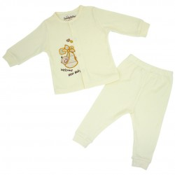 TrendyValley Organic Cotton Baby long Sleeve Pyjamas (Welcome New Baby)