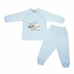 Trendyvalley Organic Cotton Baby Long Sleeve Pyjamas Set (Baa Sheep Blue)