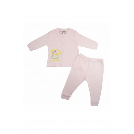 Trendyvalley Organic Cotton Long Sleeve Baby Shirt and Pants (Twinkle Star Pink)