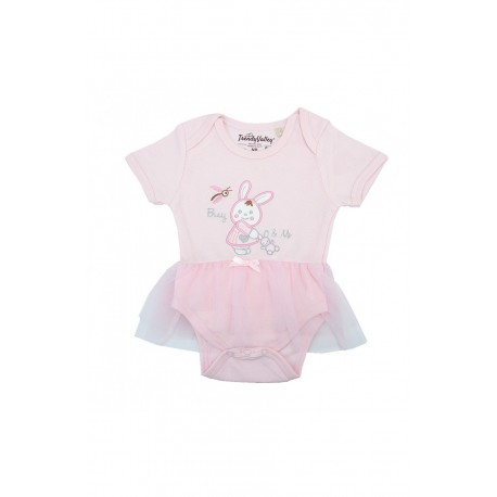Trendyvalley Organic Cotton Short Sleeve Dress (Bunny and Me)