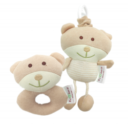 Trendyvalley x Krooderie Organic Cotton Baby Soft Toys (Woody Bear)