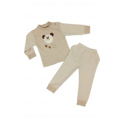 TRENDYVALLEY Organic Cotton Long Sleeve Long Pants Baby Pyjamas (Bear Balloon)