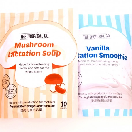 The Tropical Co. Snack Pack: Vanilla Lactation Smoothie & Mushroom Lactation Soup combo