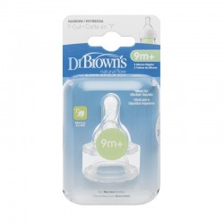 Dr Brown Option - Y-Cut Silicone Narrow-Neck Teats (2Pcs)