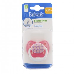 Dr Brown's Prevent Classic Shield Pacifier - Stage 2 (6 - 12M) Pink, 1 Pack