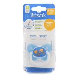 Dr Brown's Prevent Butterfly Shield Pacifier - Stage 2 (6-12M) Blue, 1 Pack