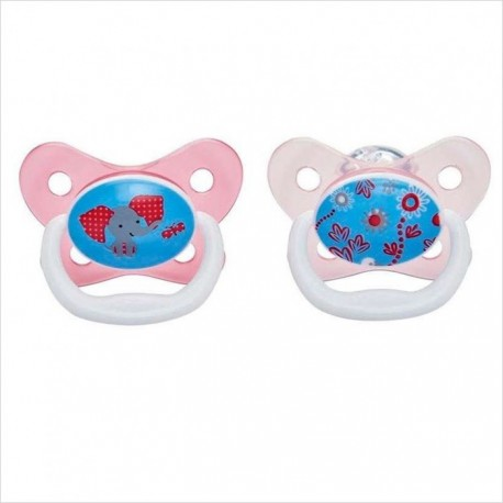 Dr Brown's Prevent Butterfly Shield Pacifier - Stage 2 (6 - 12M) Pink, 2 Pack