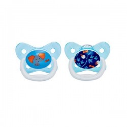 Dr Brown's Prevent Butterfly Shield Pacifier - Stage 2 (6 - 12M) Blue, 2-pack