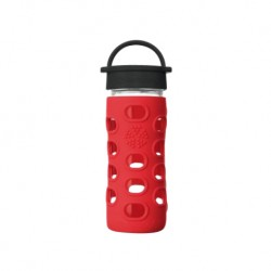 Lifefactory 12oz Glass Water Bottle with Silicone Sleeve (Apple Red)