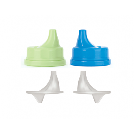 Lifefactory Sippy Caps for 4oz and 9oz bottle, Ocean/Spring Green