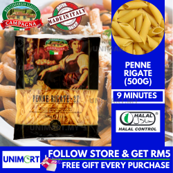 UNIMART Campagna Penne Rigate Pasta (500gram) (Cooking Time : 9 Minutes)
