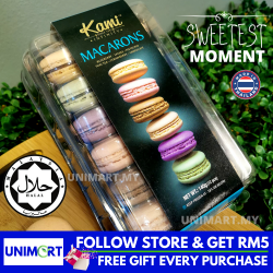 UNIMART Kami Gift Box 12 Biscuit Macaron Mixed Flavour Sweet and Delicious Dessert