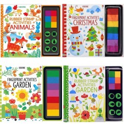 Children Fingerprinting Books with Rubber Stamps Ink Pad (VIP Branded)