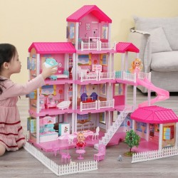 Doll House Set with Miniature Furniture (VIP Branded)