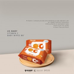 American US Baby Vitamin C Baby Wipes 80's