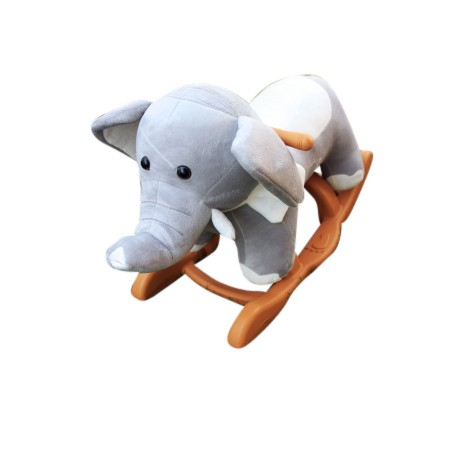Woodalion Baby Elephant Infant Rocker