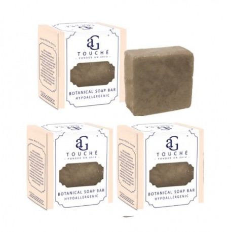 AG Touché Botanical Baby Soap Bar Bamboo Charcoal 80g 3pcs