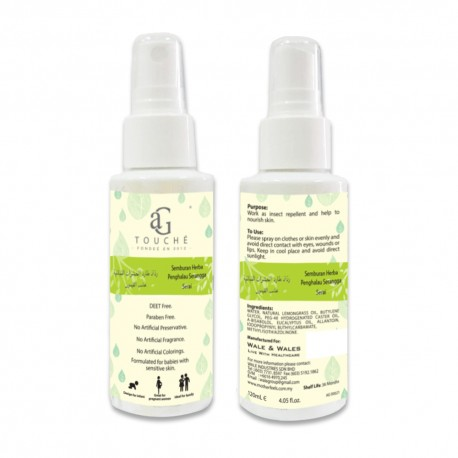 AG Touché Natural Mosquito Repellent Spray 120ml  (1 bottle)