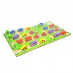 Wonder World Wooden Toys-Transport 3D Domino (A-1015-WG)