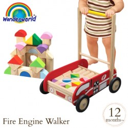 Wonder World Wooden Toys - Fire Engine Walker (A 1523-WW)