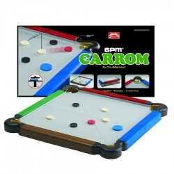 SPM Games Carrom Junior Trav.-Multicolor (M SPM 173)
