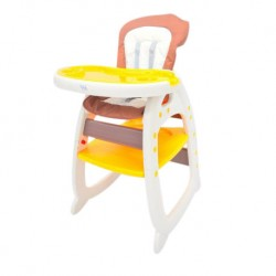 FairWorld Baby High Chair (Orange/Brown) BC 505-FW