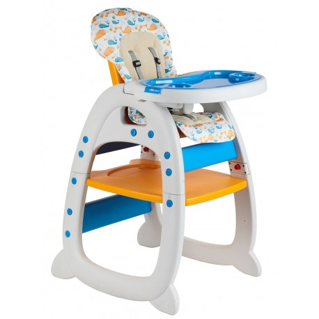 FairWorld Baby High Chair (Orange/Blue)