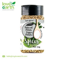 Love Earth Natural White Pepper Whole 60g
