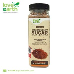 Love Earth Unrefined Dark Brown Soft Sugar 500g