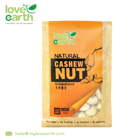 Love Earth Natural Raw Cashew Nut 400g