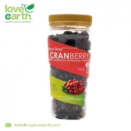 Love Earth Natural Dried Whole Cranberry 160g