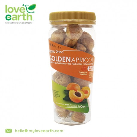 Love Earth Organic Dried Golden Apricot with Kernal 160g