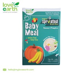 Love Earth Organic Baby Meal Banana, Pumpkin & Quinoa (6+3 Sachet 180g)