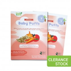 [Buy 1 Free 1] Love Earth Organic Baby Puffs Carrot, Tomato & Onions 40g (Clearance) [Expiry Date: 19/02/2021]