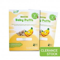 [Buy 1 Free 1] Love Earth Organic Baby Puffs Banana 40g (Clearance) [Expiry Date: 19/02/2021]
