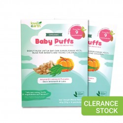 [Buy 1 Free 1] Love Earth Organic Baby Puffs Amaranth Leaves, Pumpkin 40g (Clearance) [Expiry Date: 19/02/2021]