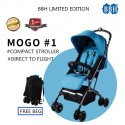 BBH Lightweight Stroller Compact One-Hand Fold Baby Stroller with 1 year Warranty (Blue)
