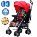 BBH QE9 Light Weight Umbrella Stroller for New Born Baby with 1 Year Warranty (Red)