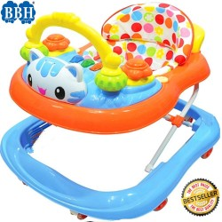 BBH 839 Baby Strong Based Walker with English Song and Light (Blue)
