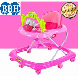 BBH 349 Baby Walker with Stopper / English Song (Pink)