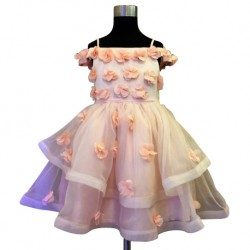 Wonder Tots Party Dress 4-12y (Peach/Floral) - 17200610