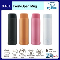 Zojirushi 480ml S/S Twist-Open Mug - SM-NA-48