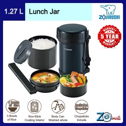 Zojirushi 1.27L S/S Lunch Jar - SL-GH-18-BA (Black)